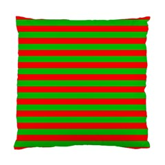 Pattern Lines Red Green Standard Cushion Case (One Side)