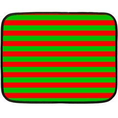 Pattern Lines Red Green Double Sided Fleece Blanket (Mini)