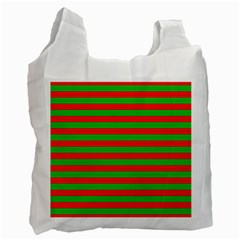 Pattern Lines Red Green Recycle Bag (Two Side)