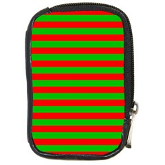 Pattern Lines Red Green Compact Camera Cases
