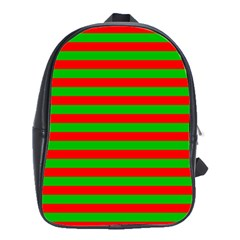 Pattern Lines Red Green School Bags(Large)
