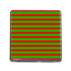 Pattern Lines Red Green Memory Card Reader (Square)