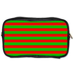 Pattern Lines Red Green Toiletries Bags 2-Side