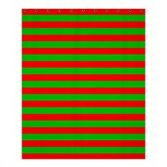 Pattern Lines Red Green Shower Curtain 60  x 72  (Medium)