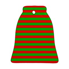 Pattern Lines Red Green Bell Ornament (Two Sides)