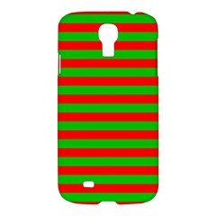 Pattern Lines Red Green Samsung Galaxy S4 I9500/I9505 Hardshell Case