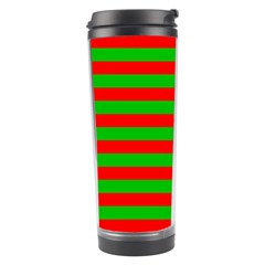 Pattern Lines Red Green Travel Tumbler