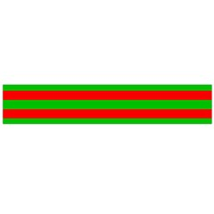 Pattern Lines Red Green Flano Scarf (Large)