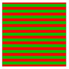 Pattern Lines Red Green Large Satin Scarf (Square)