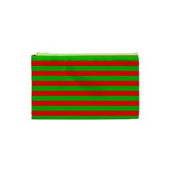 Pattern Lines Red Green Cosmetic Bag (XS)