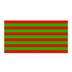 Pattern Lines Red Green Satin Wrap