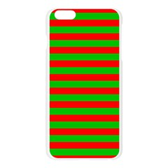 Pattern Lines Red Green Apple Seamless iPhone 6 Plus/6S Plus Case (Transparent)