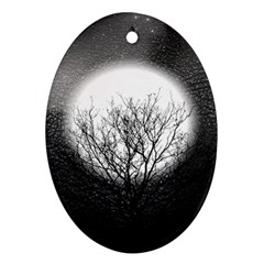 Starry Sky Oval Ornament (two Sides)