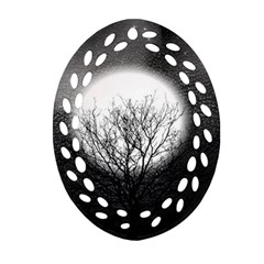 Starry Sky Oval Filigree Ornament (Two Sides)