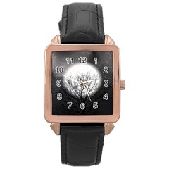 Starry Sky Rose Gold Leather Watch