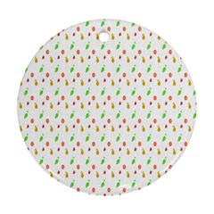 Fruit Pattern Vector Background Ornament (Round)