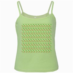 Fruit Pattern Vector Background Green Spaghetti Tank