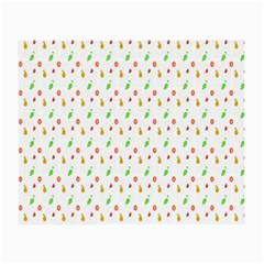 Fruit Pattern Vector Background Small Glasses Cloth (2-Side)