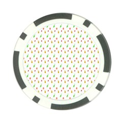 Fruit Pattern Vector Background Poker Chip Card Guard (10 pack)