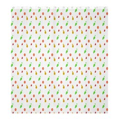 Fruit Pattern Vector Background Shower Curtain 66  x 72  (Large)