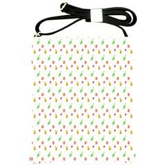 Fruit Pattern Vector Background Shoulder Sling Bags