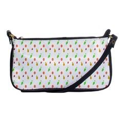 Fruit Pattern Vector Background Shoulder Clutch Bags