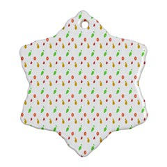 Fruit Pattern Vector Background Snowflake Ornament (Two Sides)