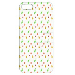 Fruit Pattern Vector Background Apple iPhone 5 Hardshell Case with Stand