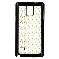Fruit Pattern Vector Background Samsung Galaxy Note 4 Case (Black)