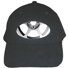 Car Wheel Chrome Rim Black Cap