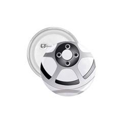 Car Wheel Chrome Rim 1.75  Buttons