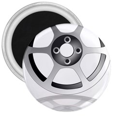 Car Wheel Chrome Rim 3  Magnets