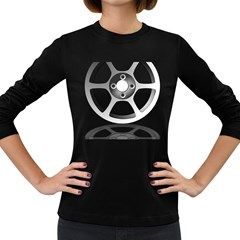 Car Wheel Chrome Rim Women s Long Sleeve Dark T-Shirts