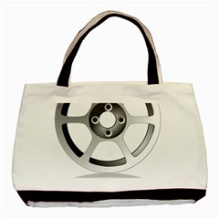 Car Wheel Chrome Rim Basic Tote Bag