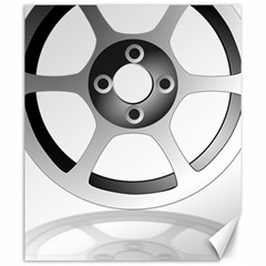 Car Wheel Chrome Rim Canvas 20  x 24