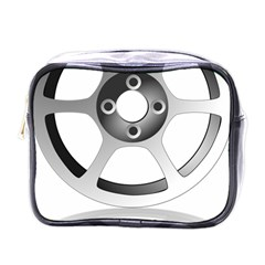 Car Wheel Chrome Rim Mini Toiletries Bags
