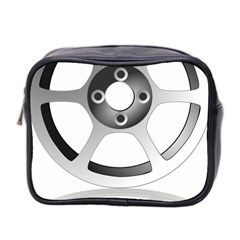 Car Wheel Chrome Rim Mini Toiletries Bag 2-Side