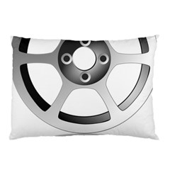 Car Wheel Chrome Rim Pillow Case (Two Sides)
