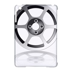 Car Wheel Chrome Rim Apple iPad Mini Hardshell Case (Compatible with Smart Cover)