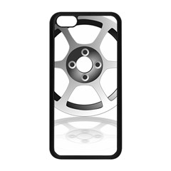 Car Wheel Chrome Rim Apple iPhone 5C Seamless Case (Black)
