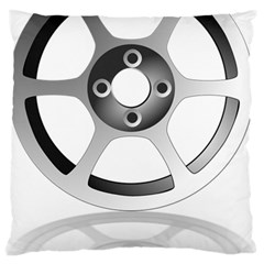 Car Wheel Chrome Rim Large Flano Cushion Case (Two Sides)