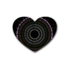 Circos Comp Inv Rubber Coaster (Heart)