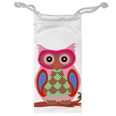 Owl Colorful Patchwork Art Jewelry Bag