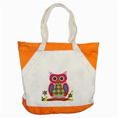 Owl Colorful Patchwork Art Accent Tote Bag