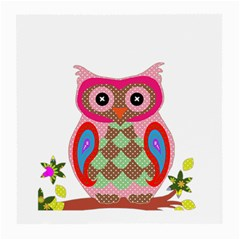Owl Colorful Patchwork Art Medium Glasses Cloth (2-Side)
