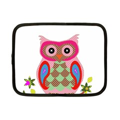 Owl Colorful Patchwork Art Netbook Case (Small)