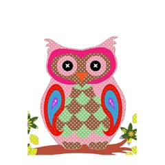 Owl Colorful Patchwork Art 5.5  x 8.5  Notebooks