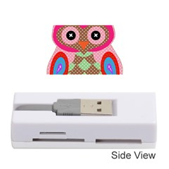 Owl Colorful Patchwork Art Memory Card Reader (Stick)