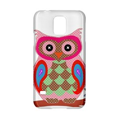 Owl Colorful Patchwork Art Samsung Galaxy S5 Hardshell Case