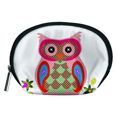 Owl Colorful Patchwork Art Accessory Pouches (Medium)